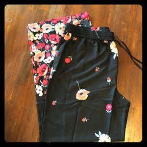Tommy Hilfiger Black Floral Satin Pants 💐🖤